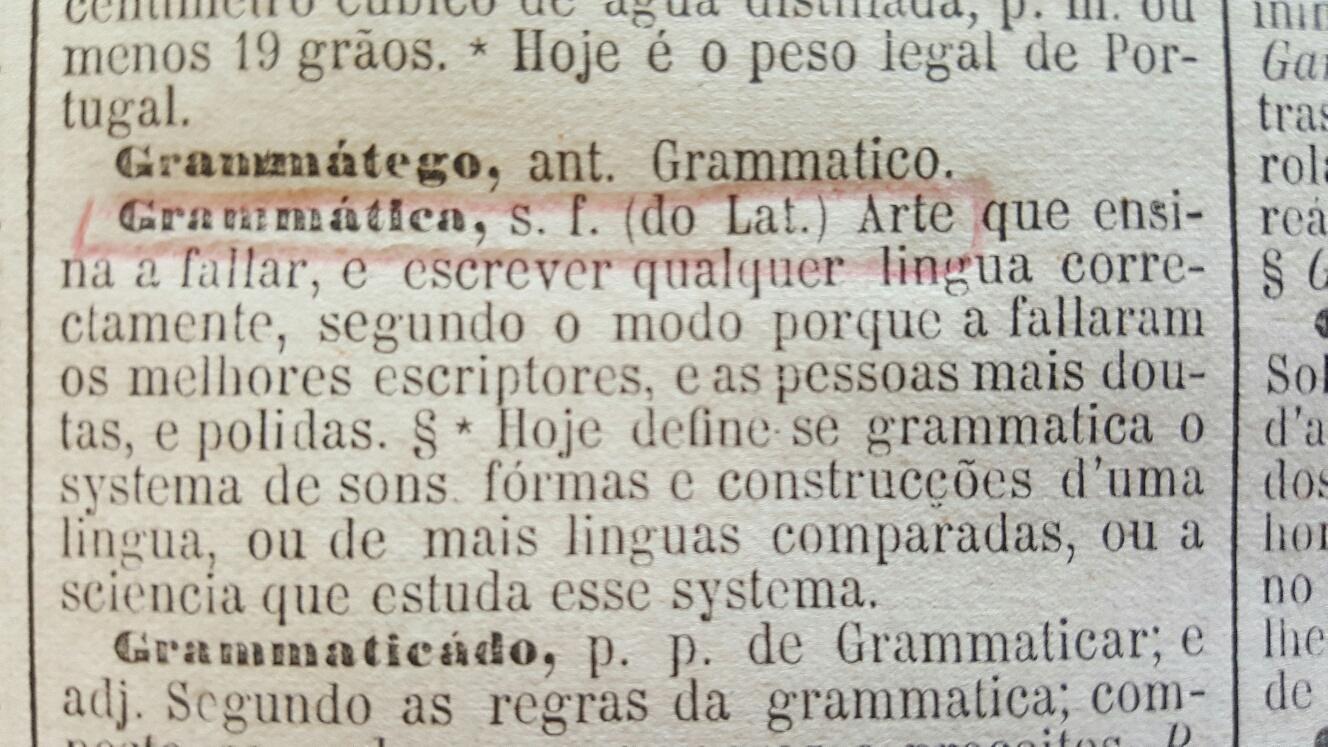 Fonte: Diccionario Moraes da Lingua Portugueza