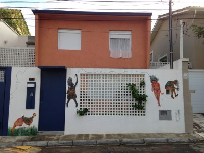 Casa da Sagarana. Arte da Tereza Meirelles