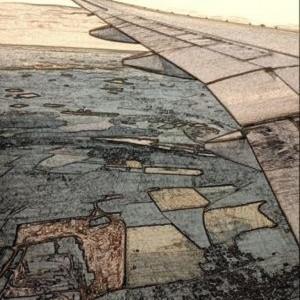 asa estilizada de avião