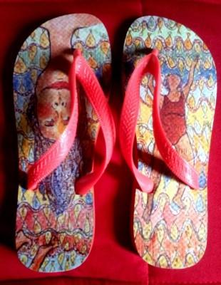 sandálias de dedo ilustradas