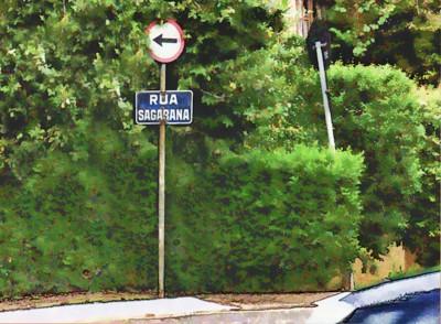 Placa da rua Sagarana