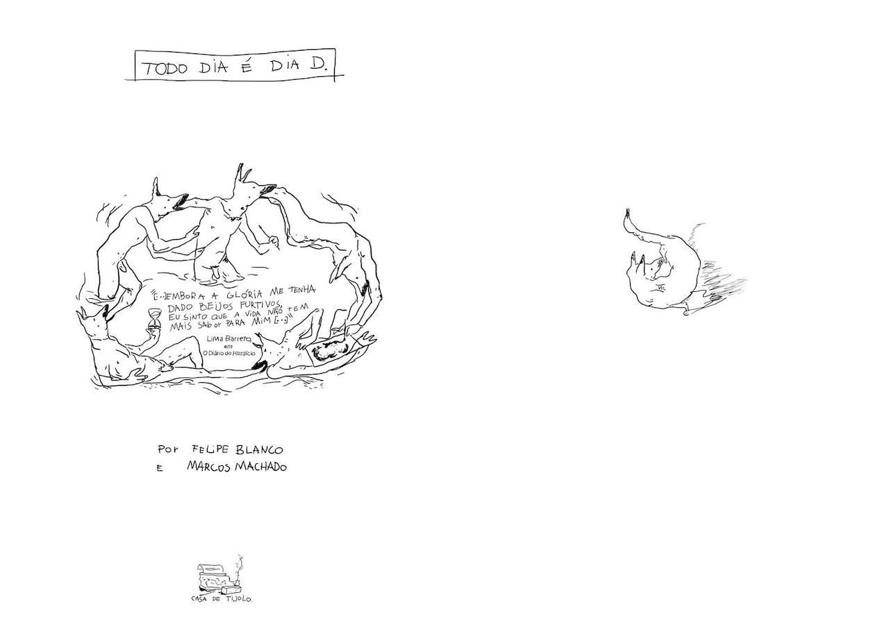 Desenhos ilustrando poema
