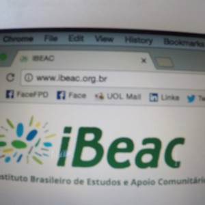 página inicial do site Ibeac