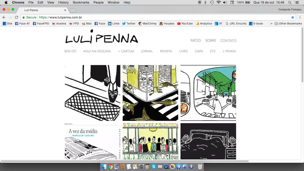 página inicial da Luli Penna